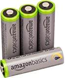 AmazonBasics AA High-Capacity Rechargeable Batteries (4-Pack) Pre-charged - Packaging May Vary (Renewed)