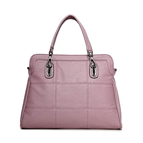 Image Unavailable. Image not available for. Color  Women Fall Winter PU  Leather Top-Handle Handbags Satchel Fashion Large Tote Shoulder Bag fa42d4dc2a