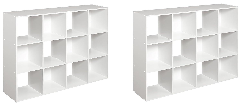 Amazon Com Closetmaid 1290 Cubeicals 12 Cube Organizer White 2