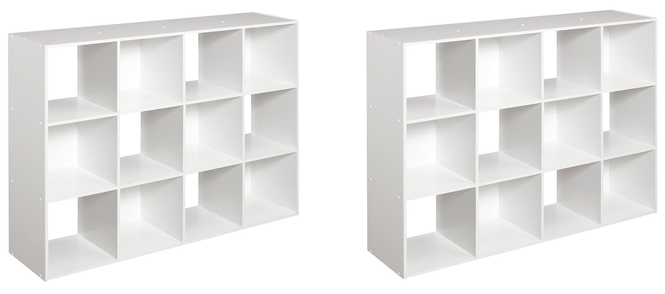 ClosetMaid 1290 Cubeicals 12-Cube Organizer, White, 2-Pack