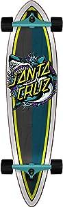 "Santa Cruz Skateboards Shark Dot Pintail Longboard Complete Skateboard - 9.58"" x 39"""