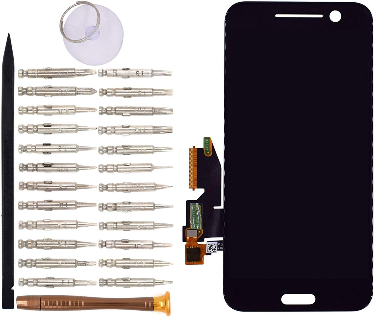 LCD Screen Display with Digitizer Touch Panel Without Bezel Frame for HTC 10(Black)