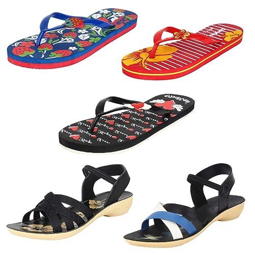 f6e73240a Earton Womens Stylish   Trendy Multicolor Combo Flip-Flop   House Slipper ( COMBO-