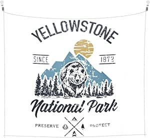 Cosateone Yellowstone National Park Tapestry Wall Hanging for Bedroom Home Decor Art 60x51 Inches