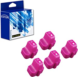 ESTON 5 Magenta Replacements for HP 02 02XL Ink Cartridge for Photosmart C7280 3310 D7360 D7160 C5180 8250