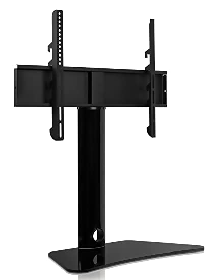 Mount It! Universal Swivel TV Stand, Swiveling Height Adjustable Television  Tabletop Base Fits