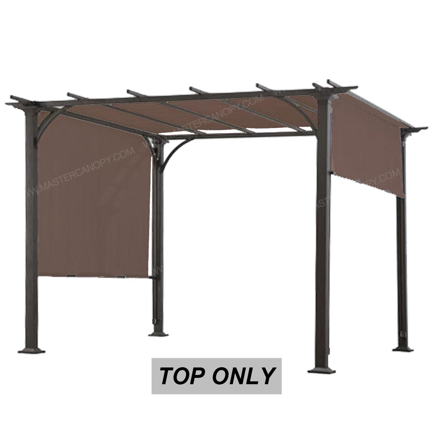 MASTERCANOPY Universal Doubleton Steel Pergola Replacement Cover for Pergola Structures 80''x 205''(Cover only