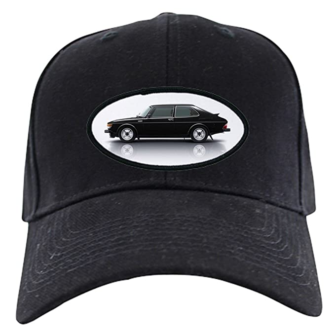 4ba20076477ce Amazon.com  CafePress - Black Saab 900 Baseball Hat - Baseball Hat ...