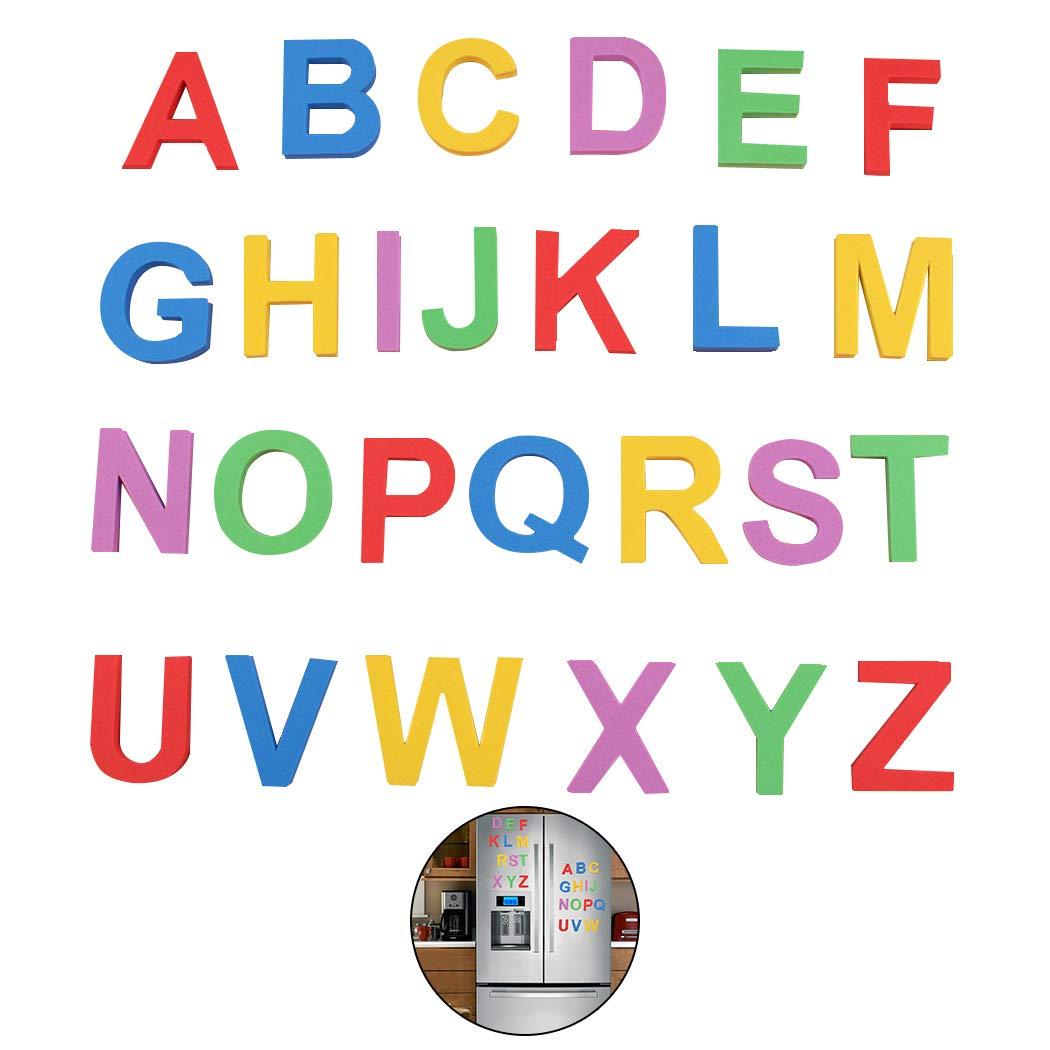 Joyibay 1 Set Lettre Magnétique Créative Capital éducatif Alphabet Aimant Aimant De Réfrigérateur
