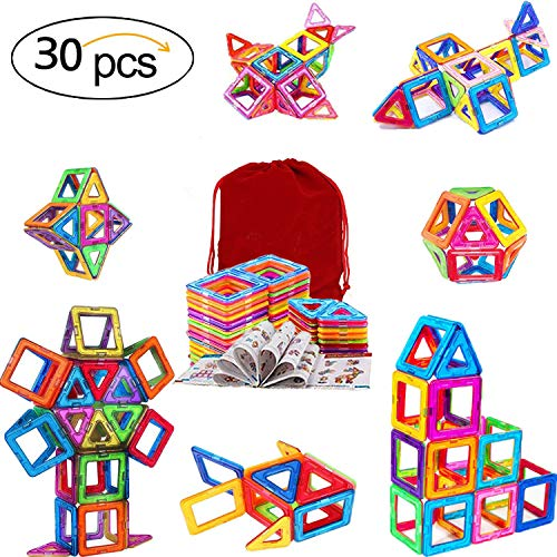 Piece Builder Set 3 - Immer Dream 30 Piece Set Magnetic Building Blocks,Kids Magnet Building Tiles for Creativity Beyond Imagination,Learning Educational Toys for Baby Toddlers