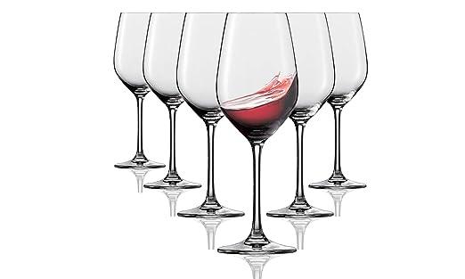 Vasos de vino tinto Tivoli Durban - Set de 6-350 ml - Apto para ...