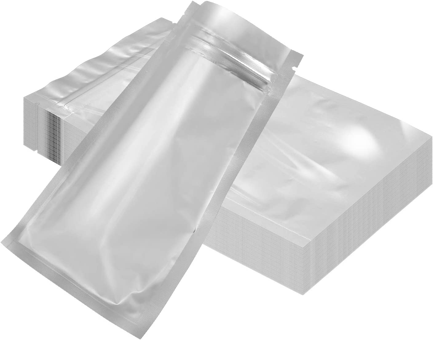 Silver Pure Aluminum Mylar Foil Self Seal Bags Resealable Food Pouches Packaging