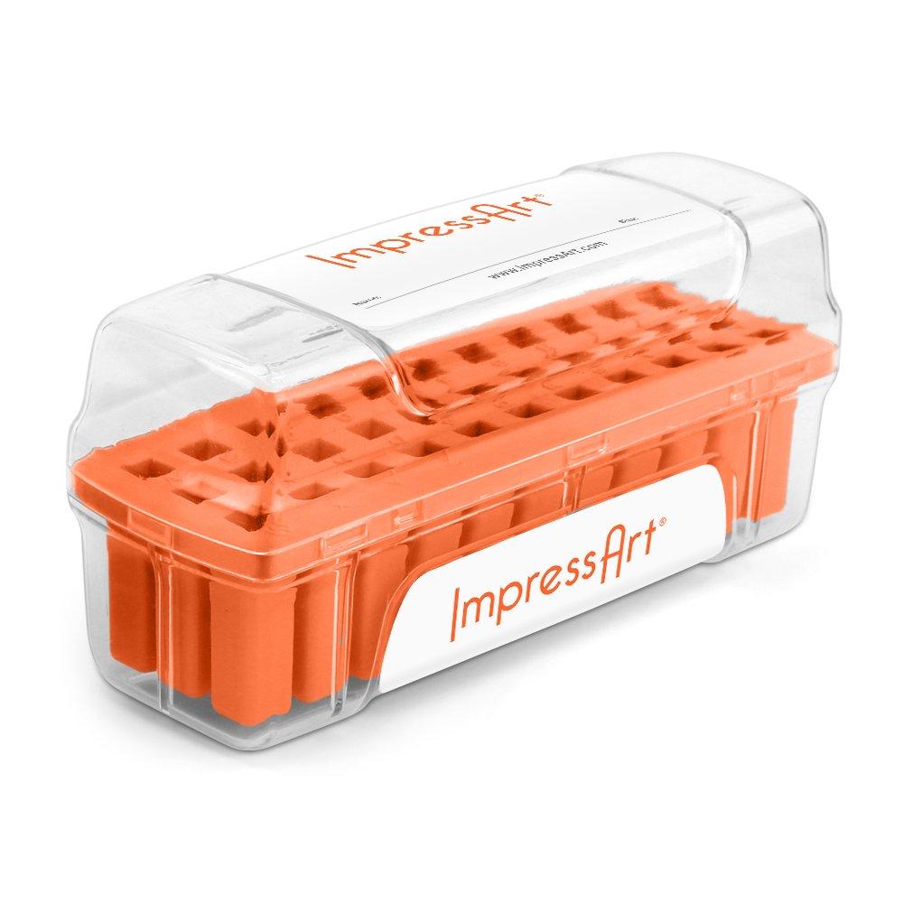 ImpressArt Letter Stamp Storage Case, Orange, 3mm SCS33-O-3mm