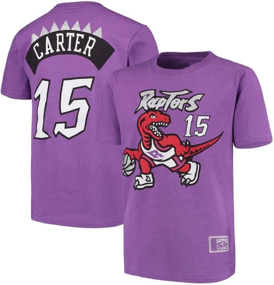 WZ Hombres Camiseta De Baloncesto Ropa Toronto Raptors # 15 Vince Carter Retro Redondo del Cuello Jeysey Fitness Sports Baloncesto Jeysey Superior Respirable,3XL:185~190cm
