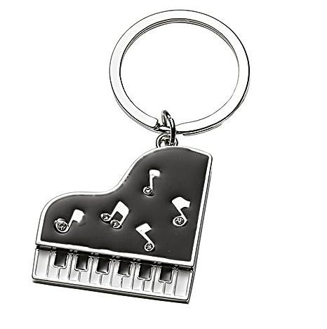 Ten Llavero Piano Negro con Purpurina cod.EL5683 cm 8x3,9x0 ...