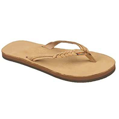 d5d4fdd8c415 Rainbow Sandals Kid s Single Layer Premier Leather Flirty Braidy Sierra  Brown