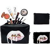 Salandens Organizador de bolsas de cosméticos de viaje portátil, bolsas de aseo para mujeres Bolsas de cosméticos organizador