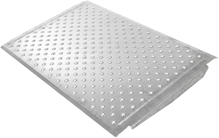 Silver Spring 4 High Aluminum Threshold Ramp Punch Plate Surface 24 L X 36 W Health Personal Care