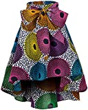 Shenbolen Women African Traditional Costume Flower Print Casual Dashiki Skirt (Medium,F)