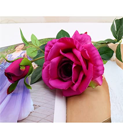 Amazon Tutuvi Real Touch Rose Artificial Single Rose Silk
