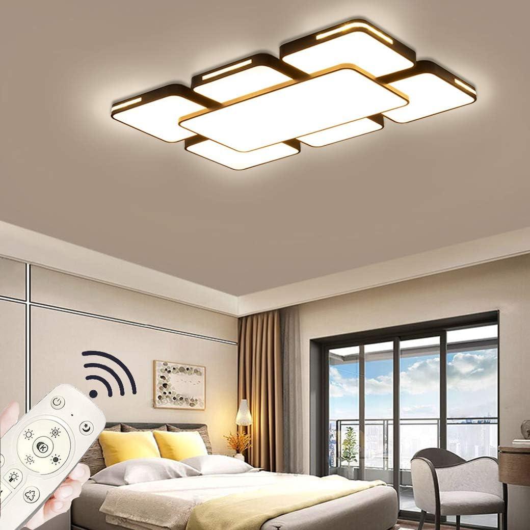 Blanco-64w Regulable Luces de techo,Plaf/ón de techo,Regulable L/ámpara de techo LED L/ámpara de la sala de estar del dormitorio de la cocina