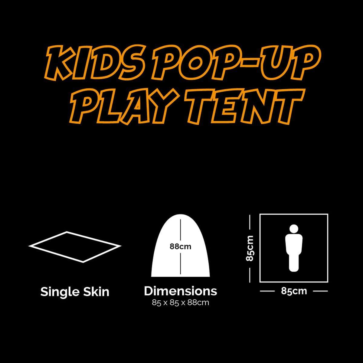 Motif Terrain Britannique Kombat UK Kids Pop-up Jouer Tent-BTP