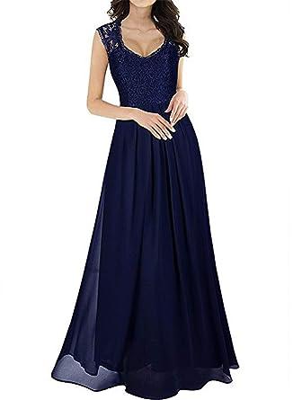 Small-shop-UK Cotton dress Falda Larga Negro con Bolsillos Formal ...