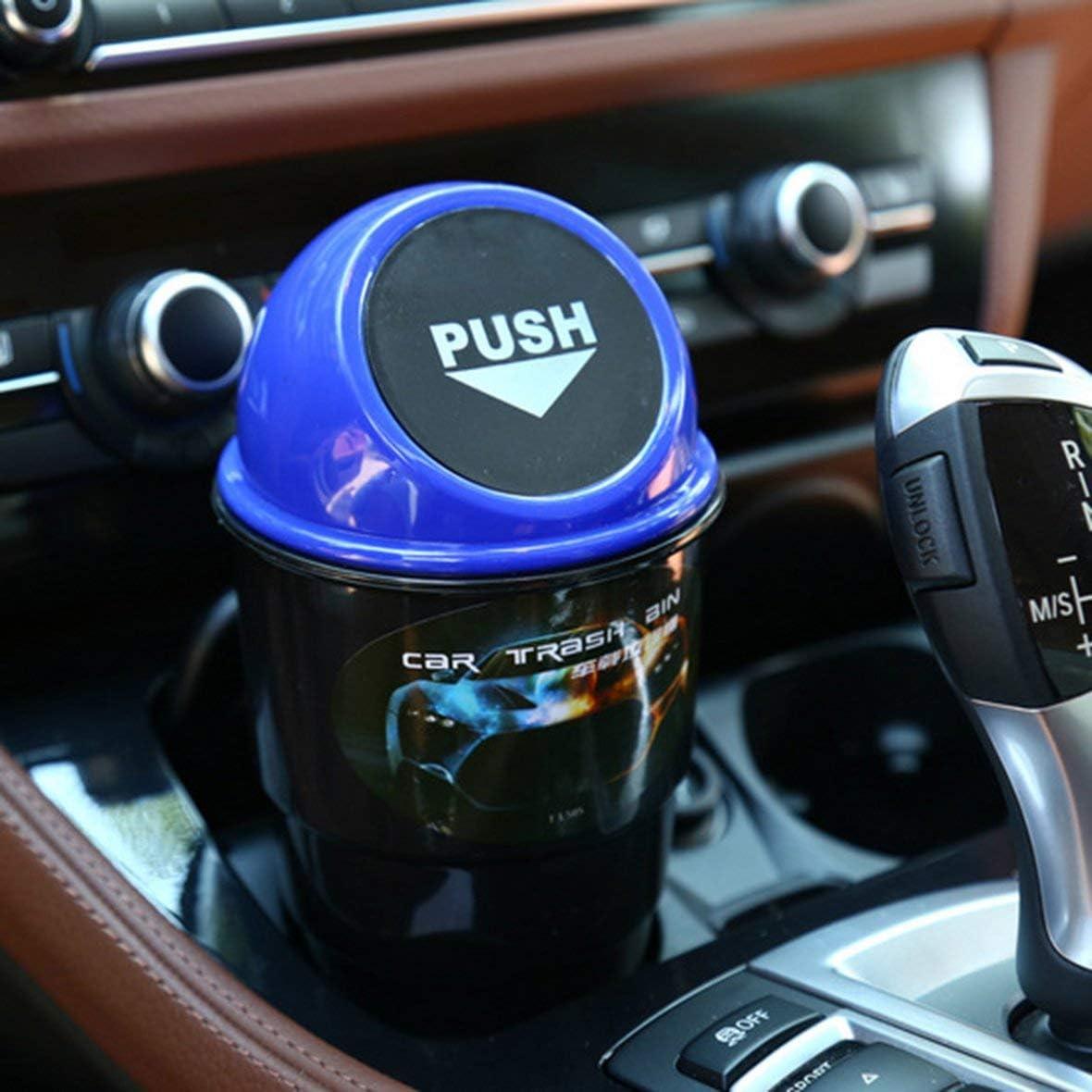 Heaviesk Poubelle de Voiture Mini Poubelle Poubelle Rouge Polyvalent Compartiment du v/éhicule Mode Pratique