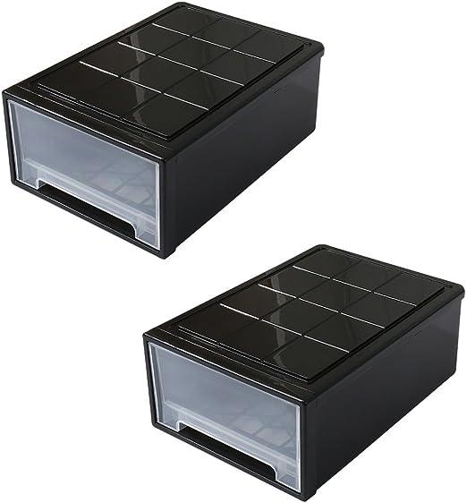 Fuli Caja de Almacenamiento de plástico, Tipo cajón Caja de ...