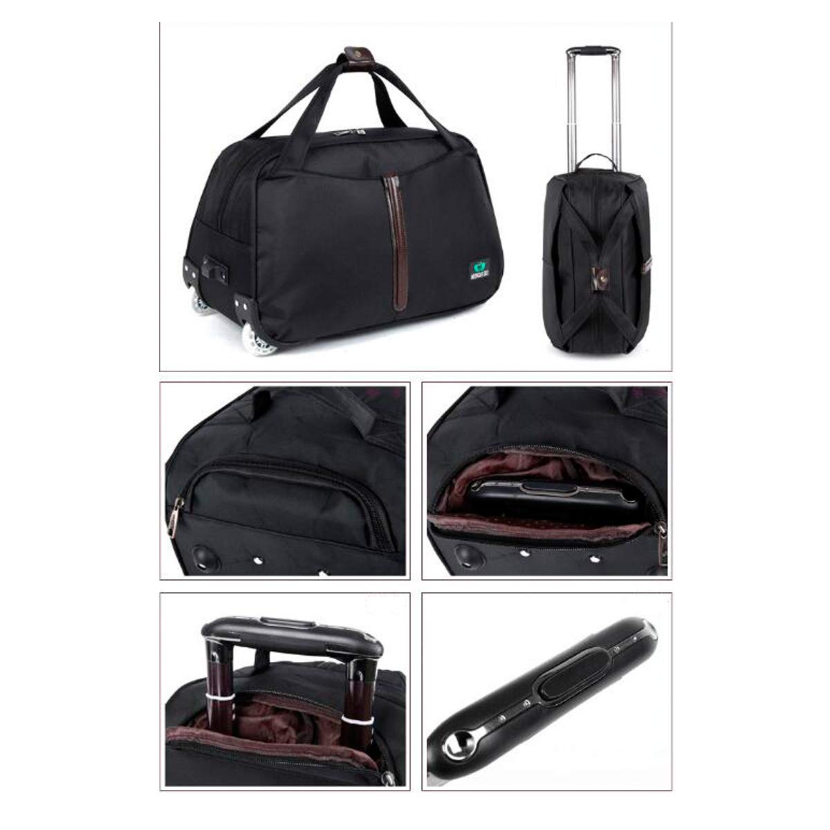Suitcase,Handbag Soft Bag Simple 20 Inches The Latest Style Color : Black, Size : 24 Travel Storage Bag Huijunwenti Trolley Case