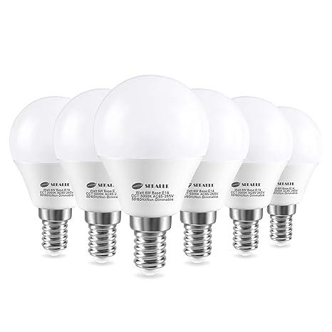 Bombillas LED E14 de rosca Edison pequeña (SES), focos de pelota de golf, focos LED Seealle ...