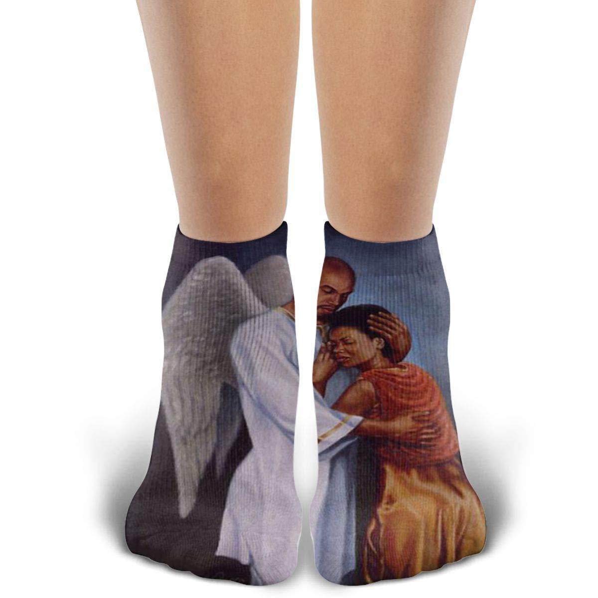 Unisex Comfort Black Art Performance Cushion Cotton Low Cut Ankle Athletic Socks For Men Women And Girls Boys