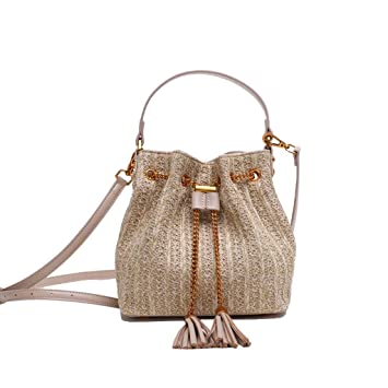 HUIMIN Bolsa de Paja Bolso de Paja de Verano para Mujer Bolso Bandolera con Borla de Moda Bolsa de Mensajero (Tamaño : 21 * 12 * 22cm): Amazon.es: Hogar