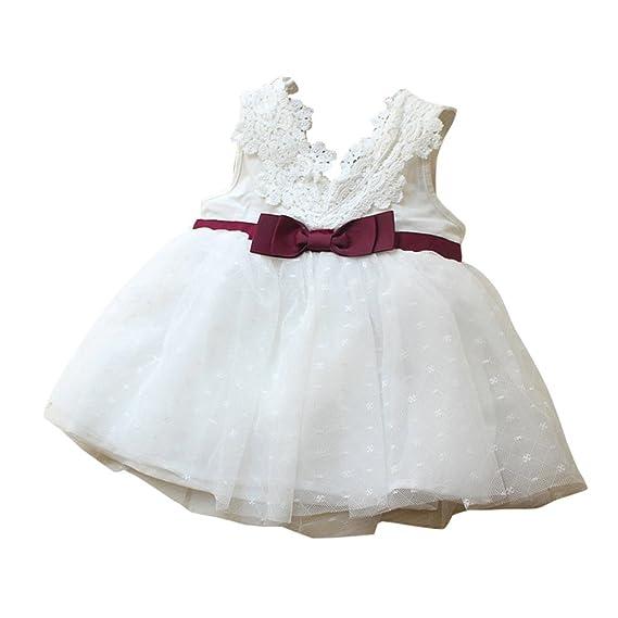 Zolimx Bowknot Niñas Encaje Princesa Dama de Honor Desfile de Encaje Tutú Vestido de Tul Vestido