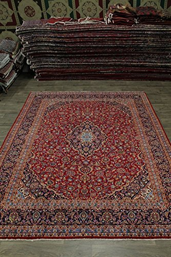 - Beautiful S Antique Handmade Red Kashan Persian Style Rug Oriental Area Carpet 10X13