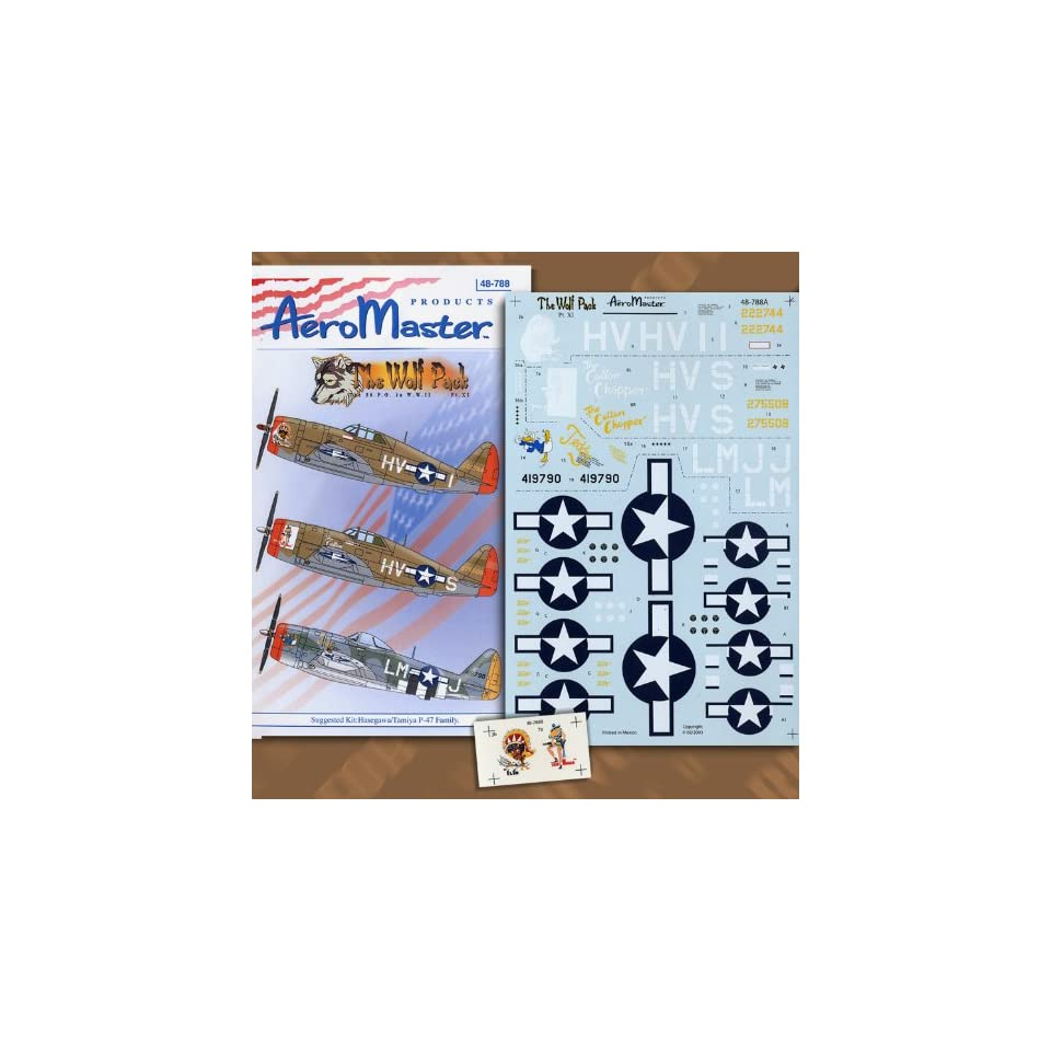 Wolf Pack Pt 11 56th Fighter Group P 47 (1/48 decals)