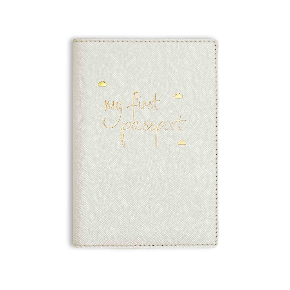 Katie Loxton bébé passeport – My First passeport – métallique Blanc