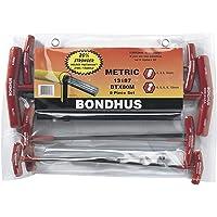 Bondhus 13187 Conjunto de 8 alças de chave de fenda e hexagonal, tamanhos 2 – 10 mm, 13187, 1-Pack