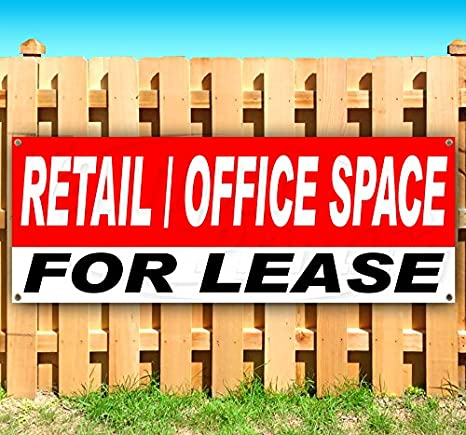 Advertising Flag, Many Sizes Available Office//Retail for Lease 13 oz Heavy Duty Vinyl Banner Sign with Metal Grommets New Store