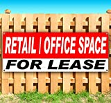 RETAIL/OFFICE SPACE FOR LEASE 13 oz heavy duty vinyl banner sign with metal grommets, new, store, advertising, flag, (many sizes available)