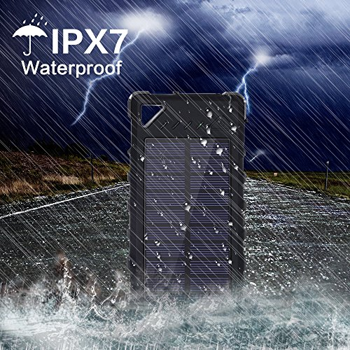 buy popular 16735 7a355 Amazon.com: Solar Charger, FKANT 16000mAh Solar Phone Charger IPX7 ...