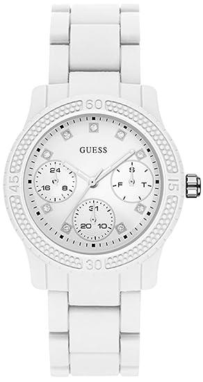 e6e10f0ac953 Guess Watches Ladies funfetti Womens Analogue Japanese-Quartz Watch with  Polyurethane Bracelet W0944L1  Amazon.ca  Watches