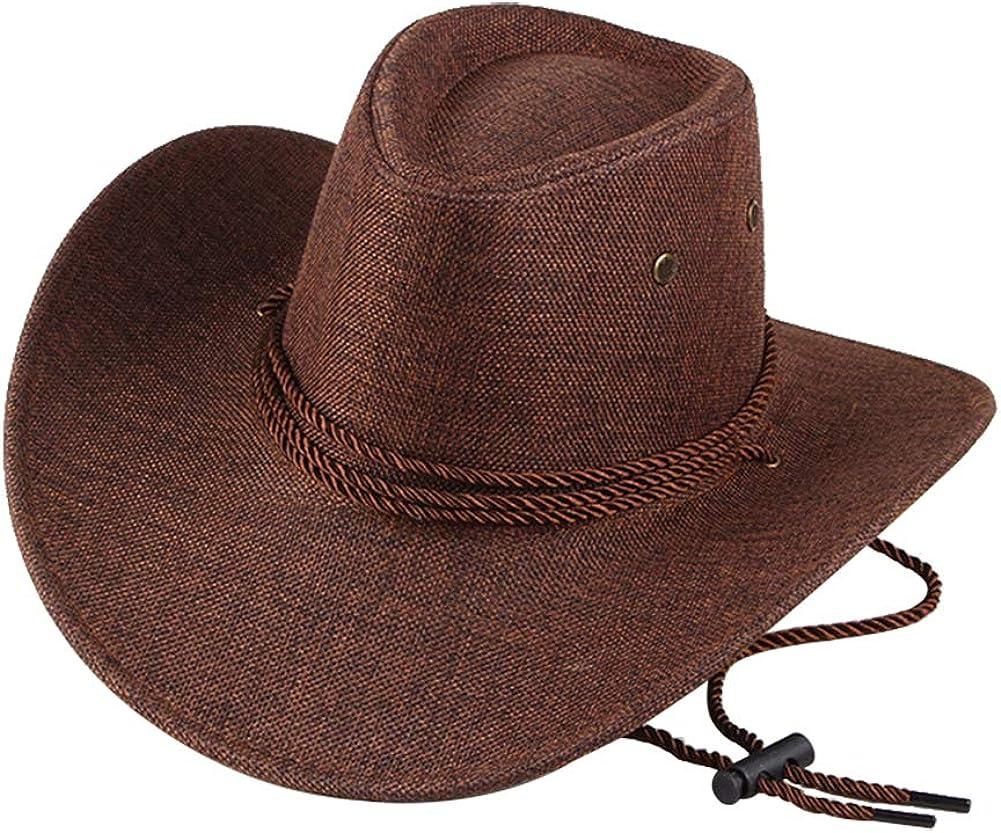 Emorias 1 Pcs Sombrero de Vaquero Hombre Cowboy Retro Sombrero de Copa Gorra Niño Viajes Accesorios