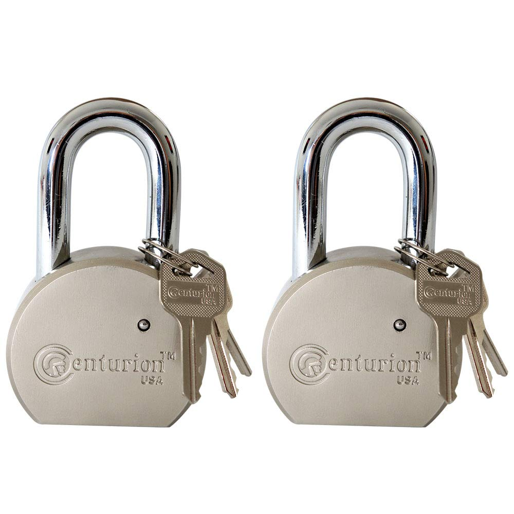 Centurion RPAD65 Round Body Solid Steel Padlock – 65mm Wide Body (60mm Shackle (2) Pieces) by Centurion USA