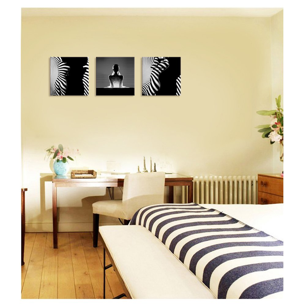 Amazon.com: Visual Art Decor Creative Sexy Naked Woman Canvas Wall ...