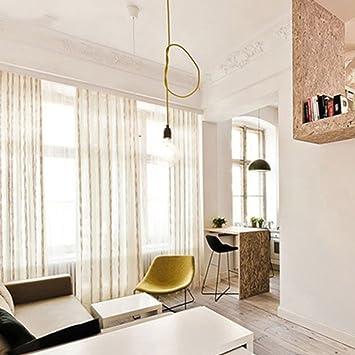 Gardinen Einfache Kaffee Farbig Gestreiften Vorhange Wohnzimmer