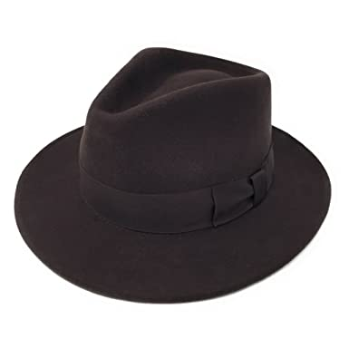 Amazon.com  Cotswold Country Hats Handmade 100% Wool Felt Crushable Indiana  Fedora Hat - Mens Hat  Clothing bd2838a49315