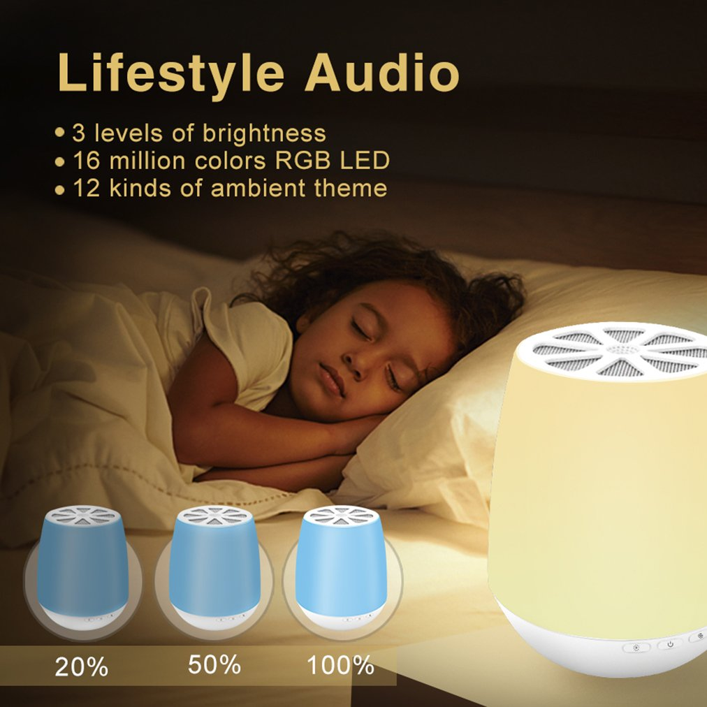 LED Bluetooth Speaker,8Sanlione Smart App Wireless Bluetooth Speaker,Dimmable Control Night Light,Smartphones Touch Control LED Lamp With Wireless Speakers for Children bedroom, Party, Outdoor Camping by 8Sanlione (Image #5)