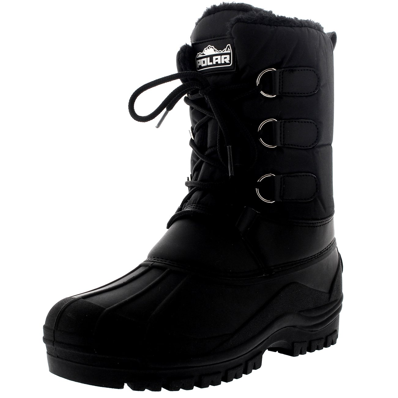 Polar Products Womens Hiking Duck Winter Walking Mid Calf Muck Thermal Quilted Boots - Black - US7/EU38 - YC0335