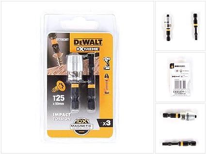 DeWalt DEWALT DEWDT70538T Impact Torsion 2 x T25 50mm and Magnetic Screwlock Sleeve